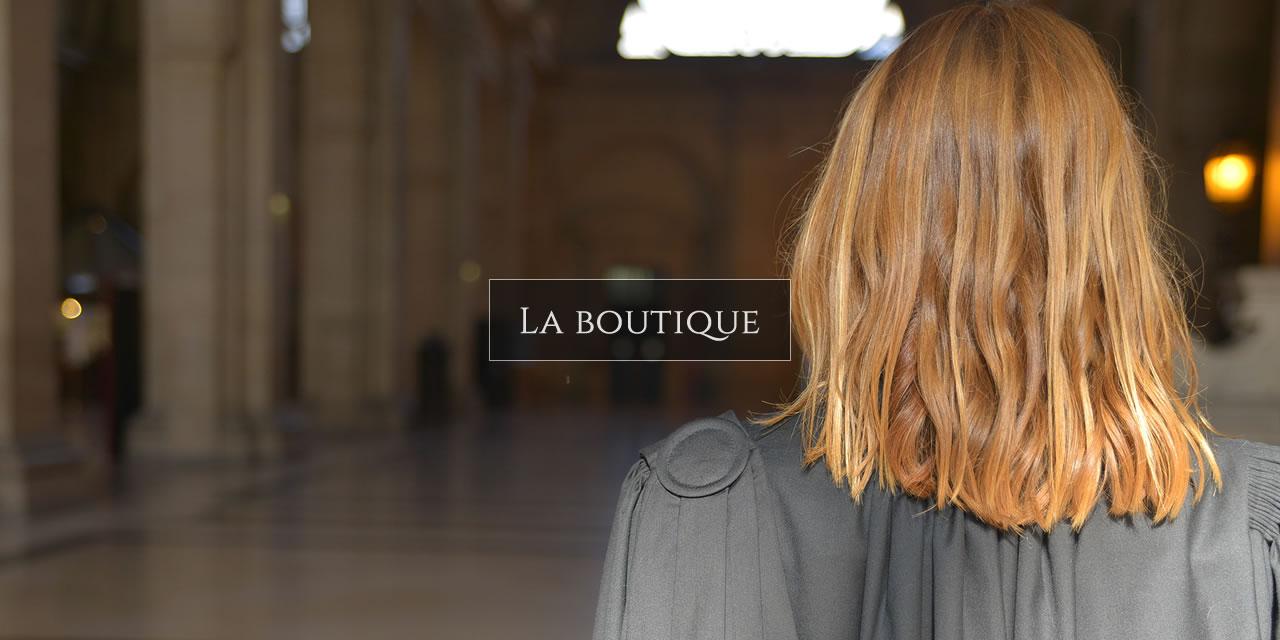 Découvrir notre boutique, nos robes d'avocats et accessoires 3