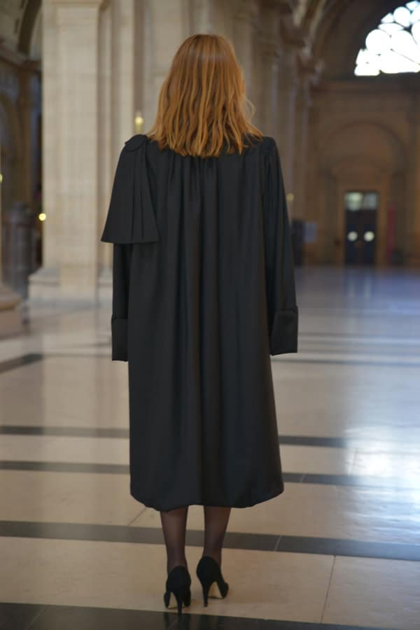 Robe d'avocat : La Classique vue de dos