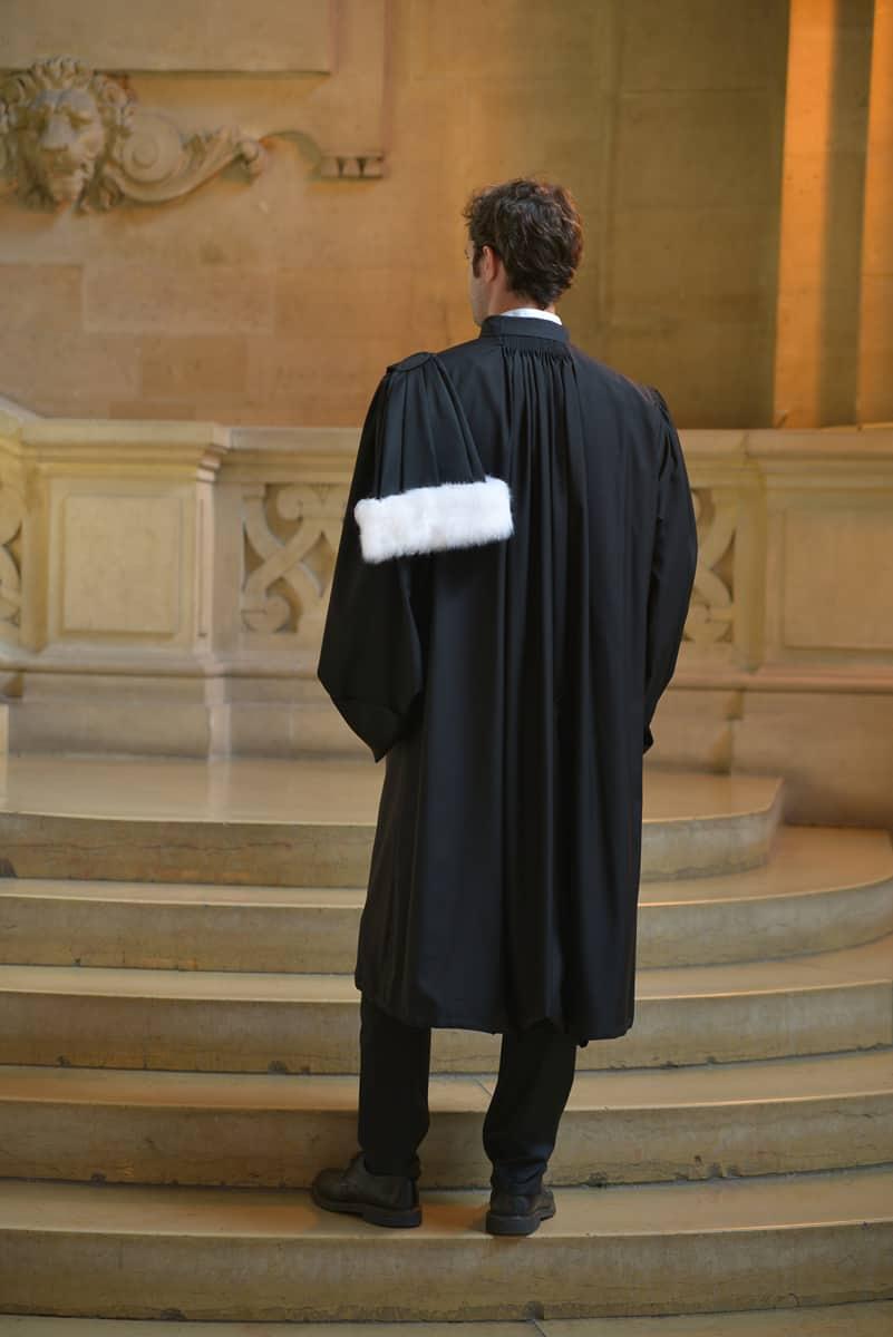 La robe d'avocat La Mérino vue de dos